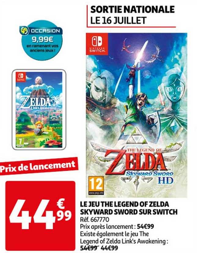 Auchan Le Jeu Legend Of Zelda Skyward Sword Sur Switch