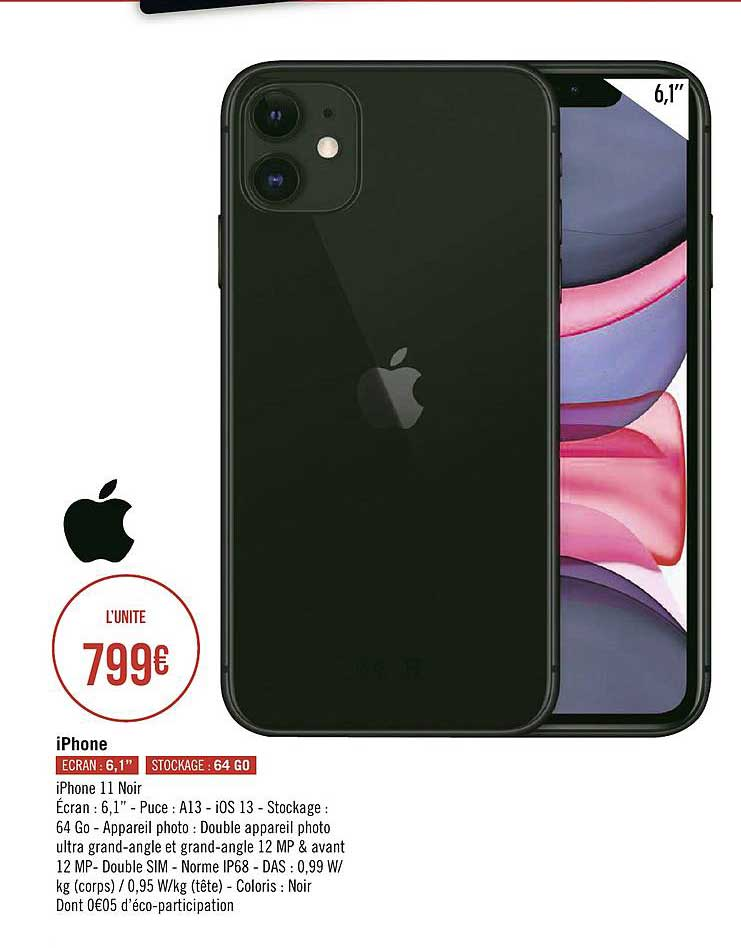 Géant Casino Iphone 11 Noir