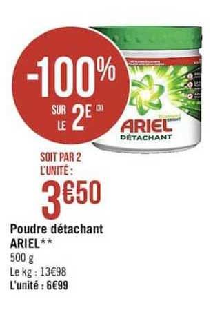 Casino Supermarchés Poudre Détachant Ariel -100% Sur Le 2e