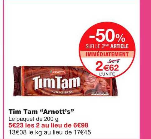 Monoprix Tim Tam Arnott's -50% Sur Le 2ème Article