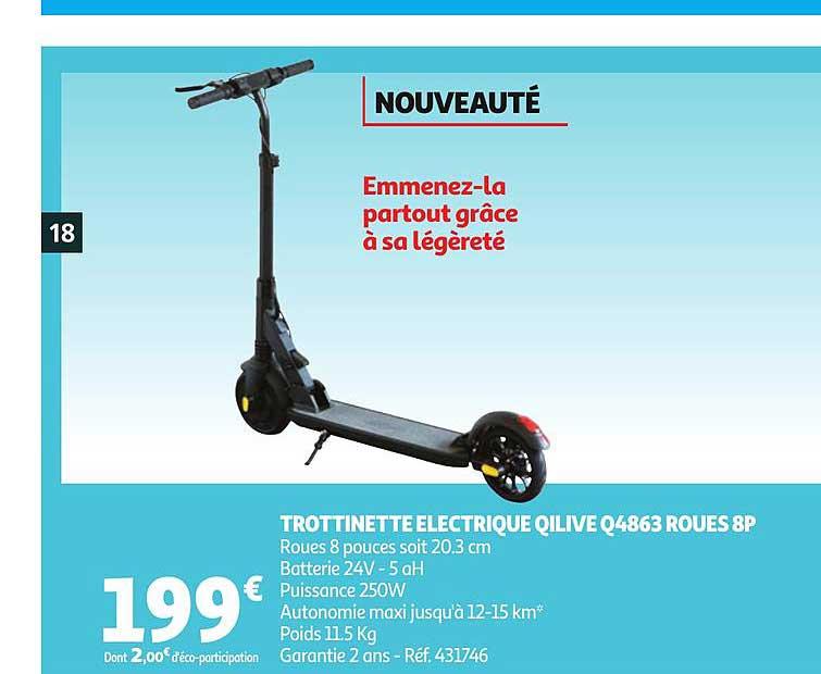 Auchan Trottinette électriques Qilive Q4863 Roues 8p