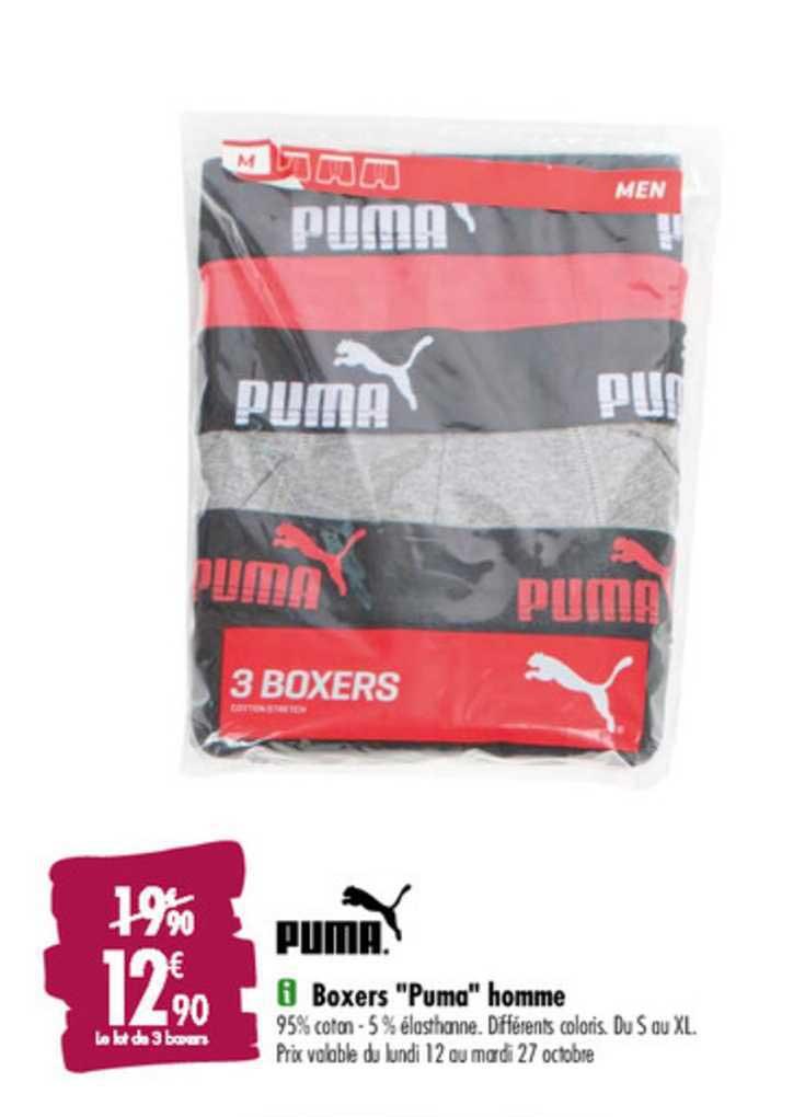 Offre Puma Boxers