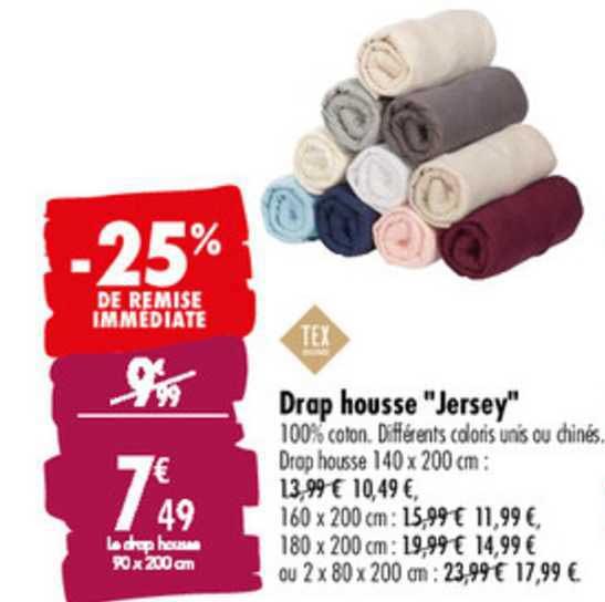 Offre Tex Drap Housse Jersey 25 De Remise Immediate Chez Carrefour