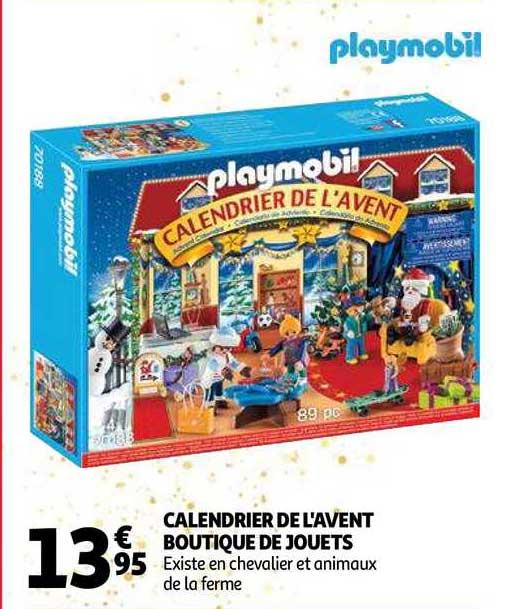 Offre Calendrier De L'avent Boutique De Jouets Playmobil 70188