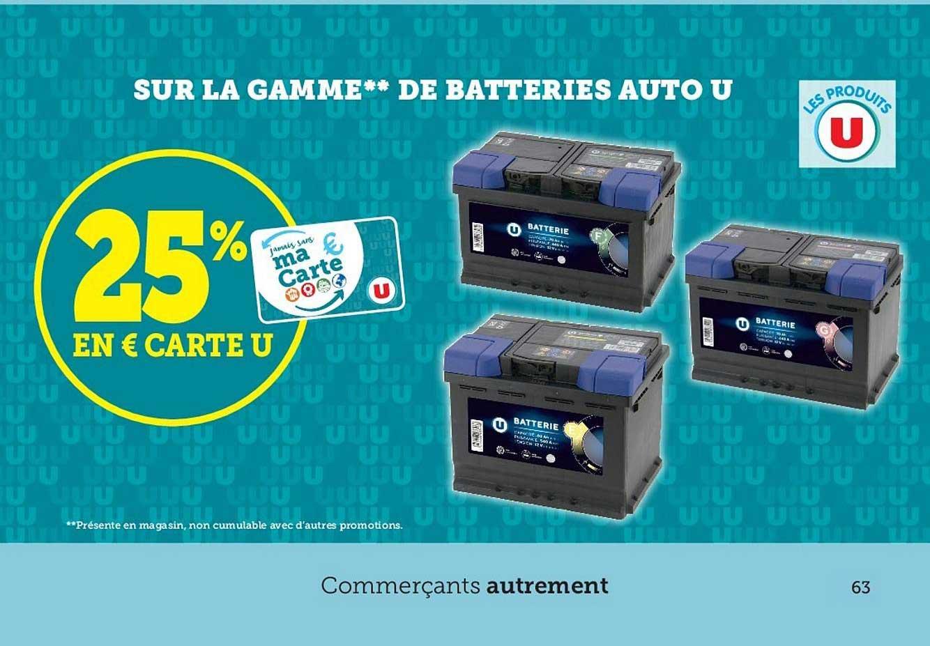 Hyper U La Gamme De Batteries Auto U