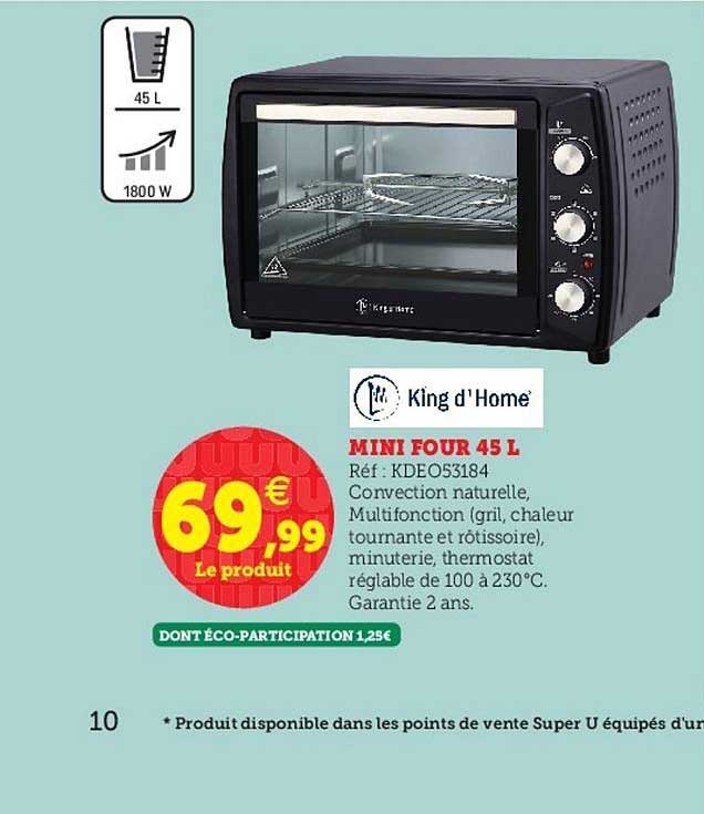 Super U Mini Four 45 L King D'home