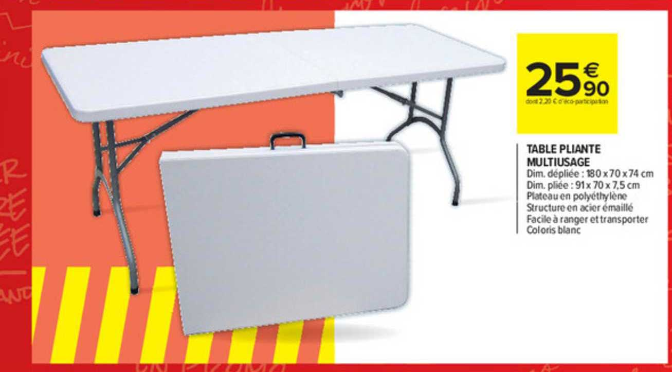 Carrefour Market Table Pliante Multiusage