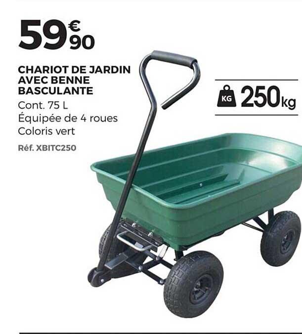 Brico Pro Chariot De Jardin Avec Benne Basculante
