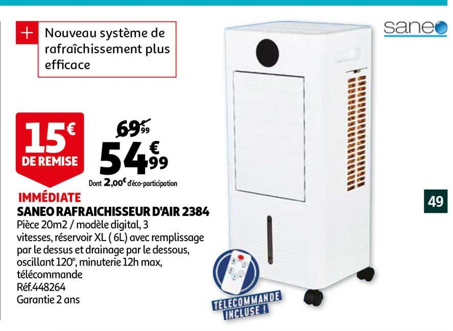 Auchan Saneo Rafraîchisseur D'air 2384