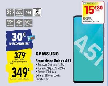 Carrefour Smartphone Galaxy A51 Samsung