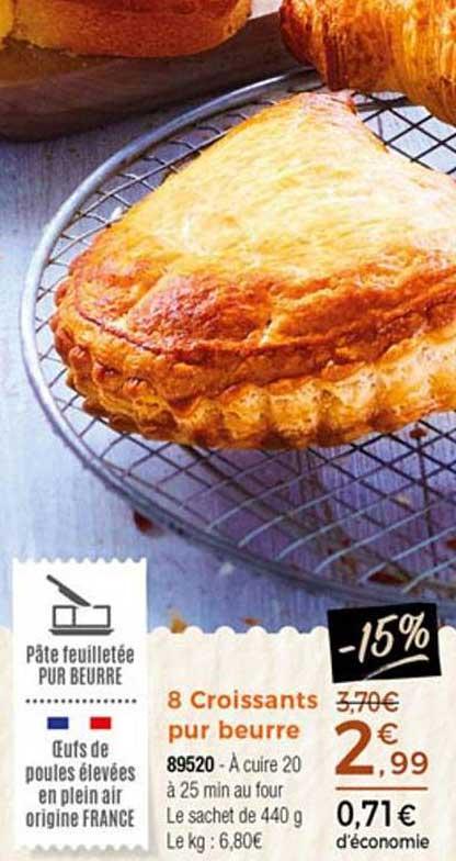 Thiriet 8 Croissants Pur Beurre