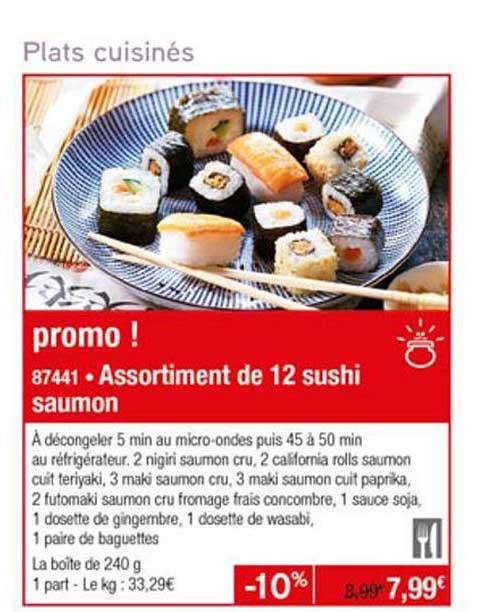 Thiriet Assortiment De 12 Sushi Saumon