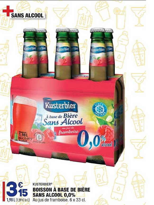 Aldi Boisson à Base De Bière Sans Alcool 0.0% Kusterbier