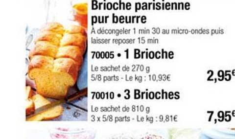 Thiriet Brioche Parisienne Pur Beurre