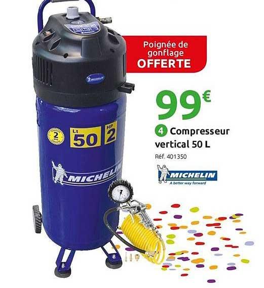 Mr Bricolage Compresseur Vertical 50 L Michelin