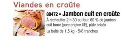 Thiriet Jambon Cuit En Croûte