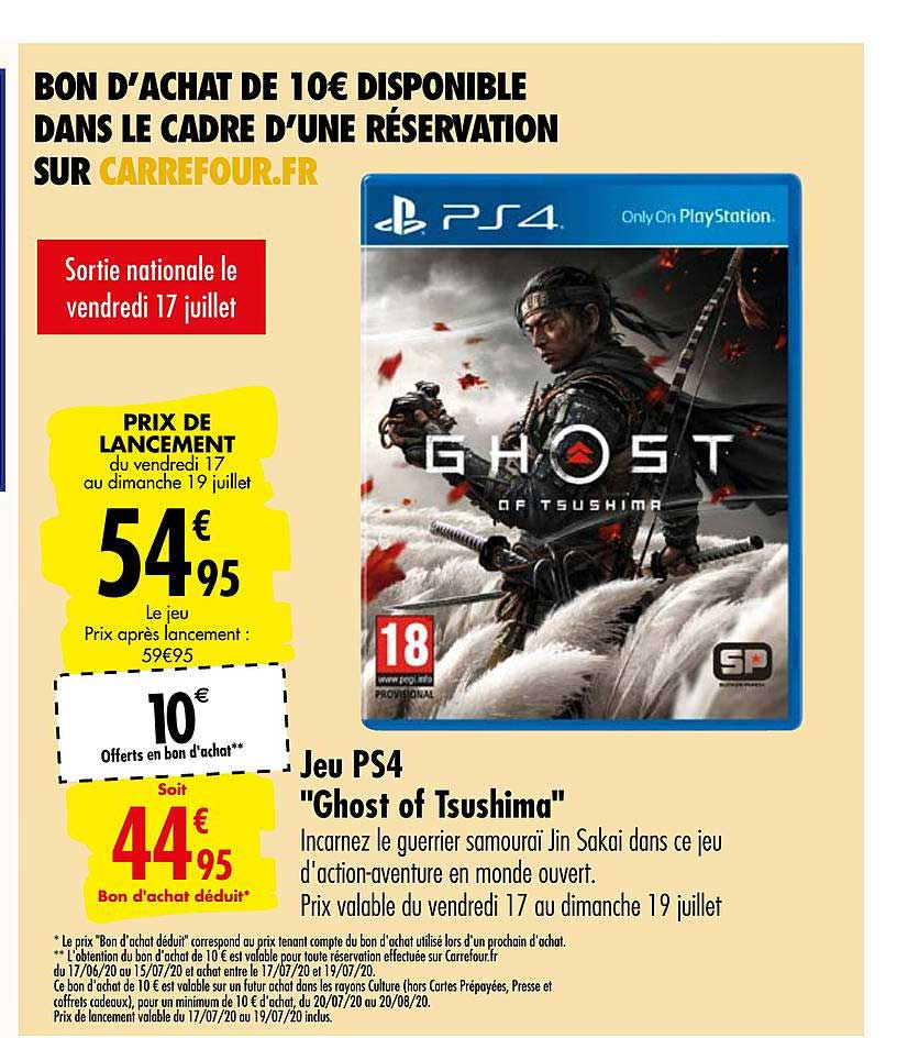 Carrefour Jeu Ps4 Ghost Of Tsushima