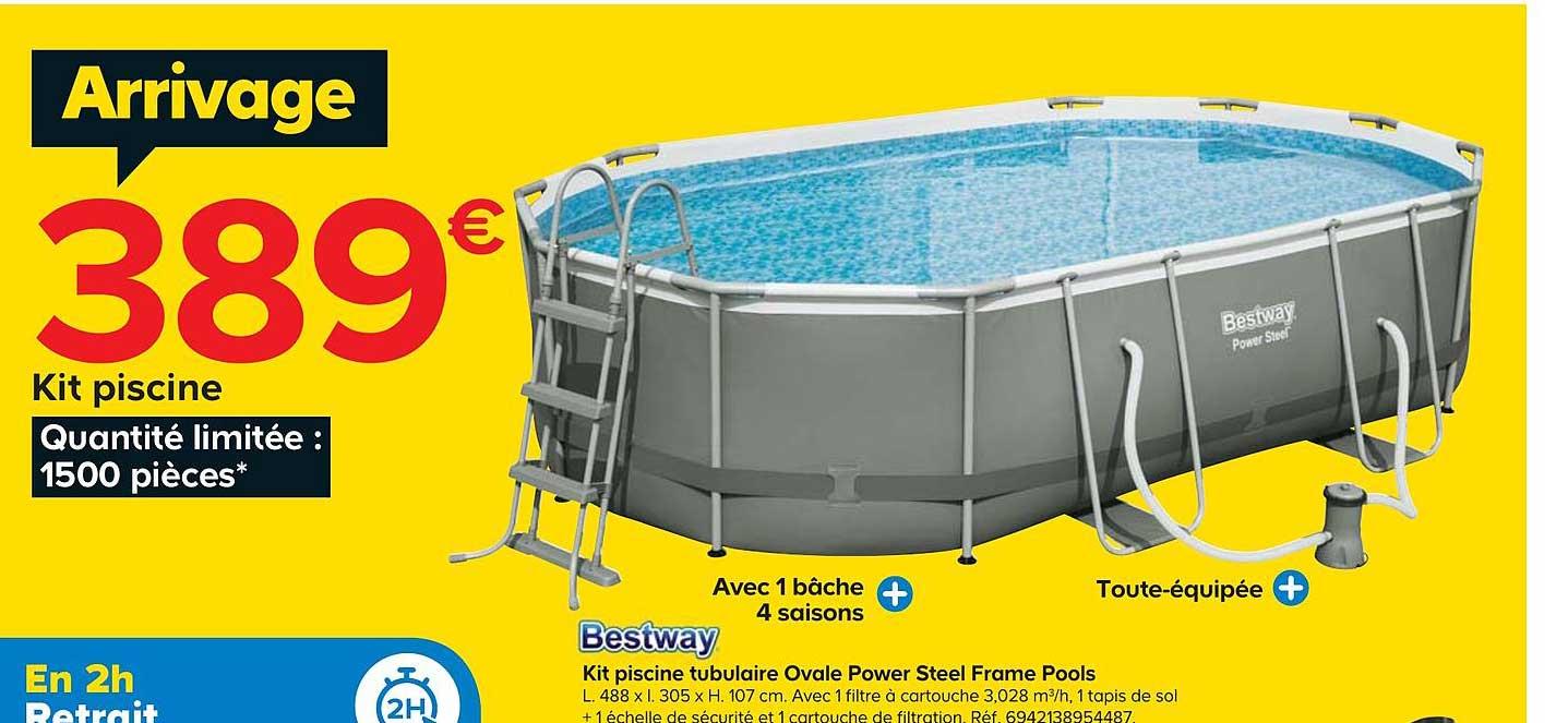 Castorama Kit Piscine Tubulaire Ovale Power Steel Frame Pools Bestway