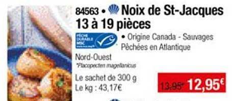 Thiriet Noix De St Jacques 13 à 19 Pièces