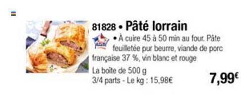 Thiriet Pâté Lorrain