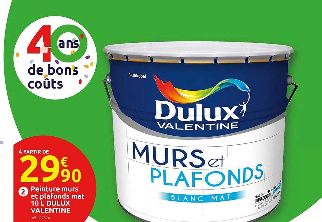 Offre Peinture Murs Et Plafonds Mat 10 L Dulux Valentine Chez Mr Bricolage