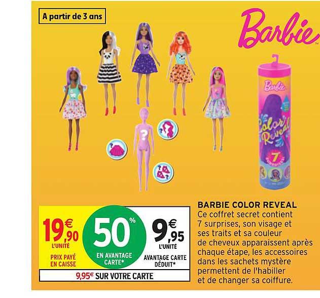 Intermarché Hyper Barbie Color Reveal