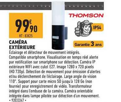 Brico Cash Caméra Extérieure Thomson