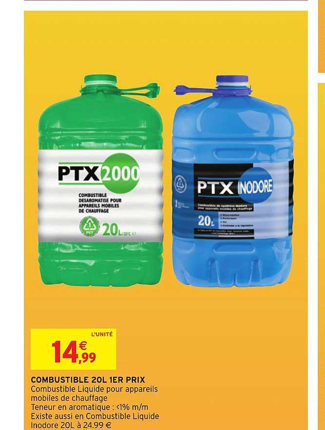 Intermarché Hyper Combustible 20l 1er Prix Ptx