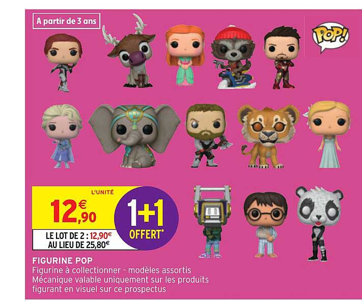 Intermarche Hyper Figurine Pop 1+1 Offert