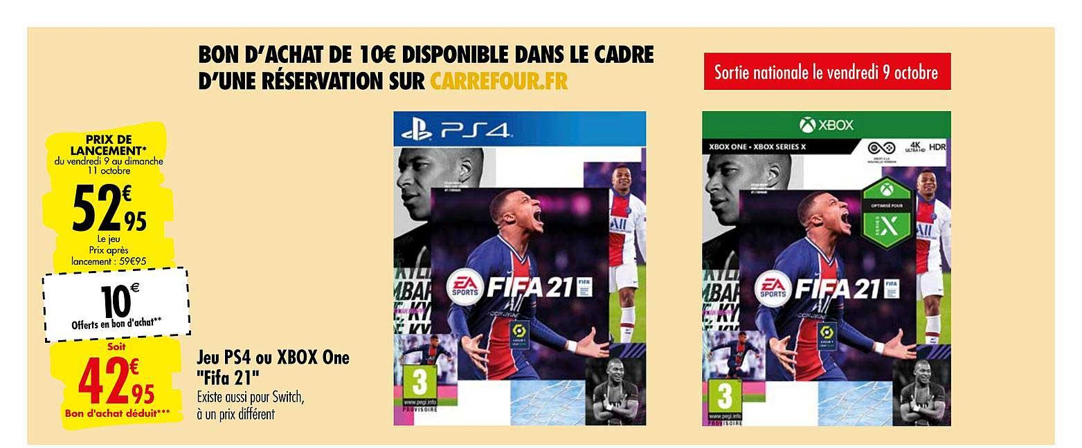 Carrefour Jeu Ps4 Ou Xbox One Fifa 21