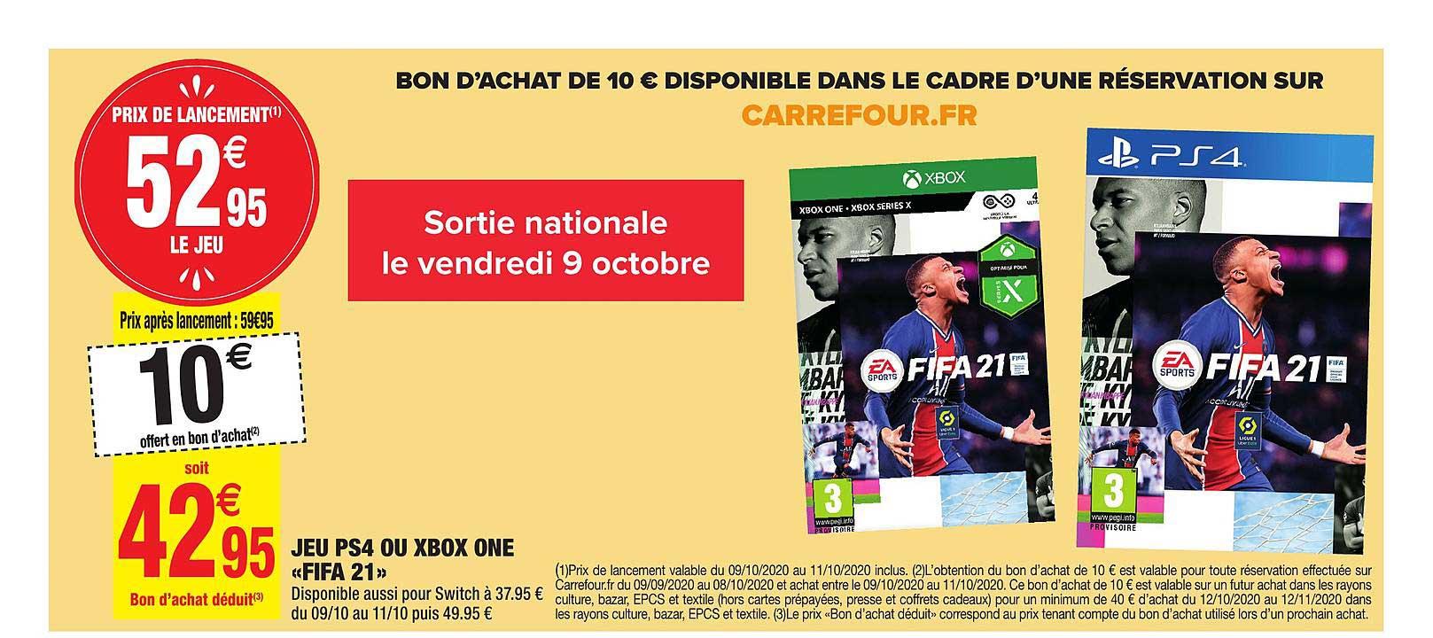 Carrefour Market Jeu Ps4 Xbox One Fifa 21