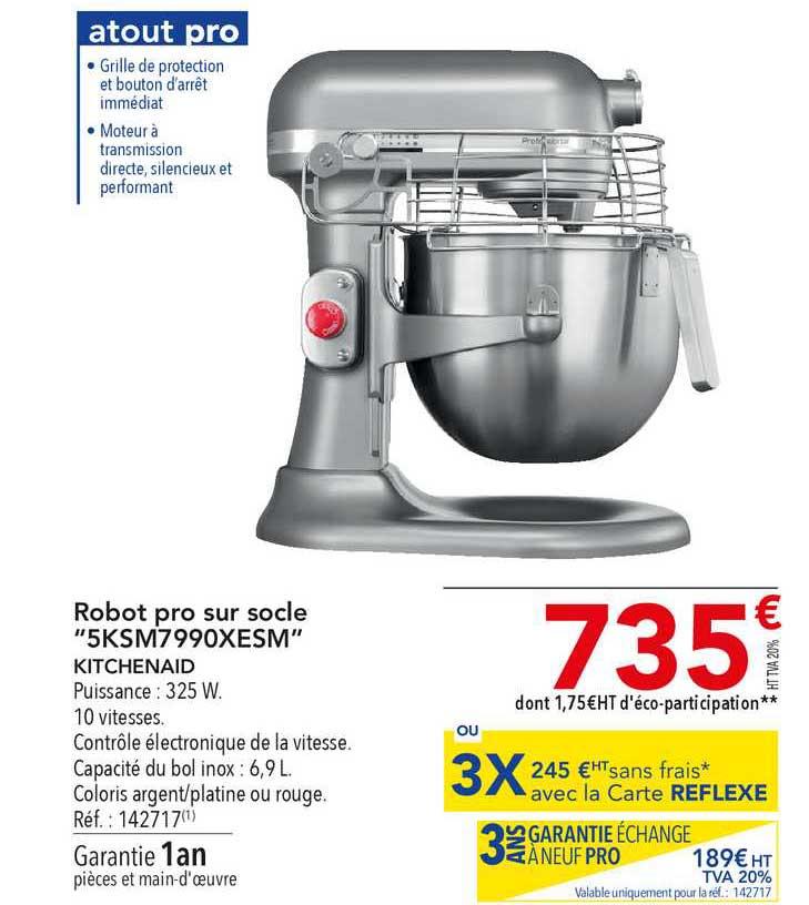 METRO Robot Pro Sur Socle 5ksm7990xesm Kitchenaid