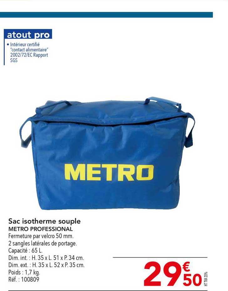 METRO Sac Isotherme Souple Metro Professional