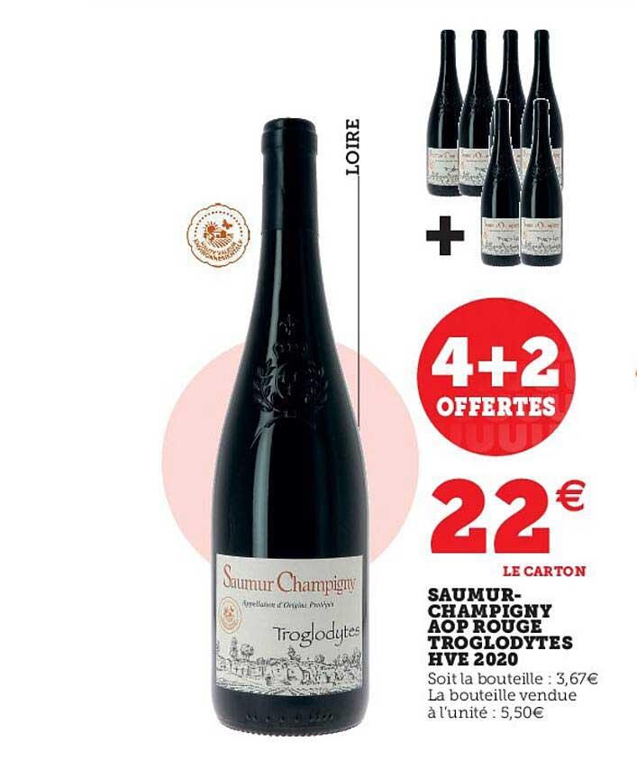 Super U Saumur-champigny Aop Rouge Troglodytes Hve 2020
