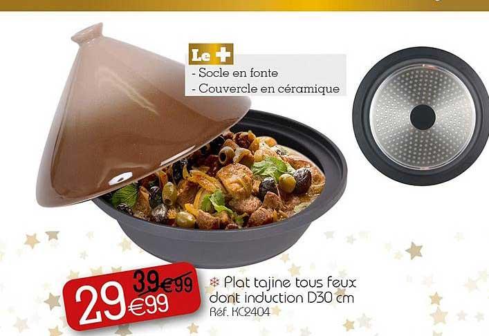 KANDY Plat Tajine Tous Feux Dont Induction D30 Cm