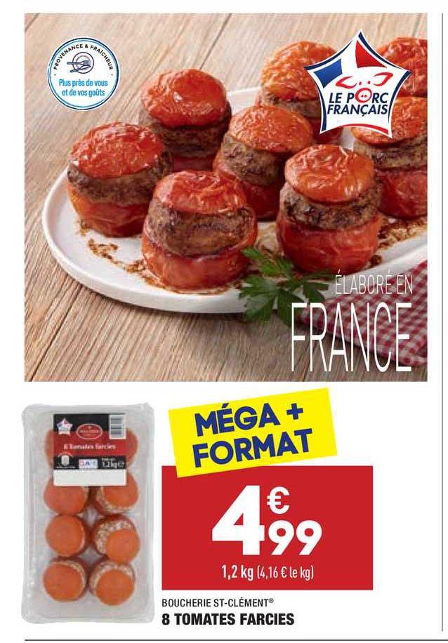 Aldi Boucherie St-clément 8 Tomates Farcies