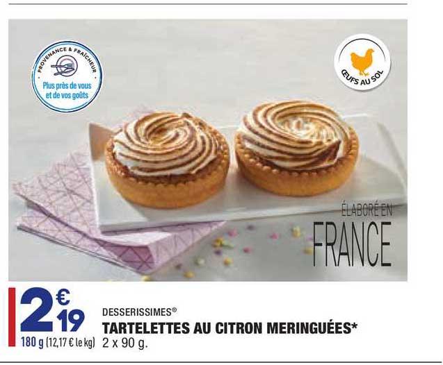 Aldi Tartelettes Au Citron Meringuées Desserissimes