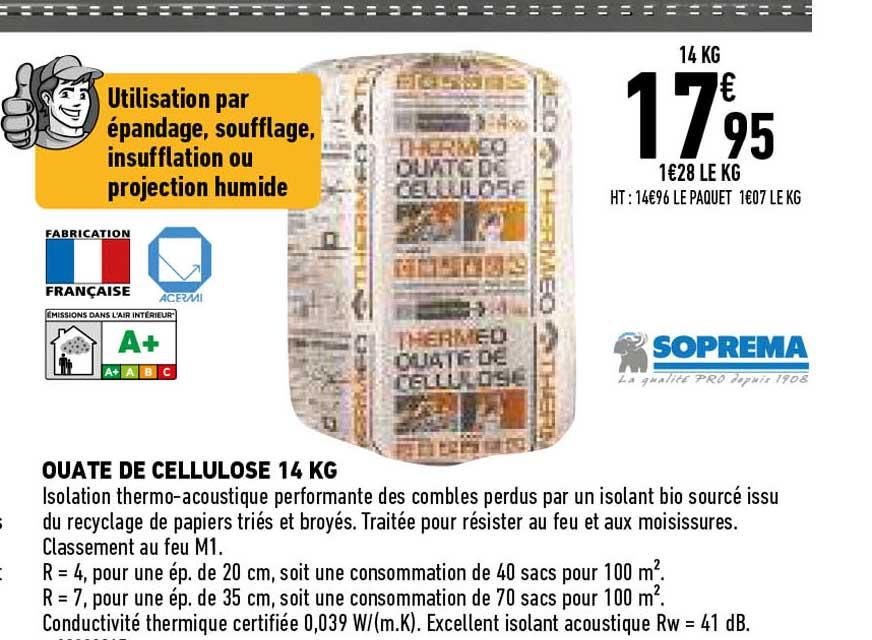 Offre Ouate De Cellulose Soprema Chez Brico Depot