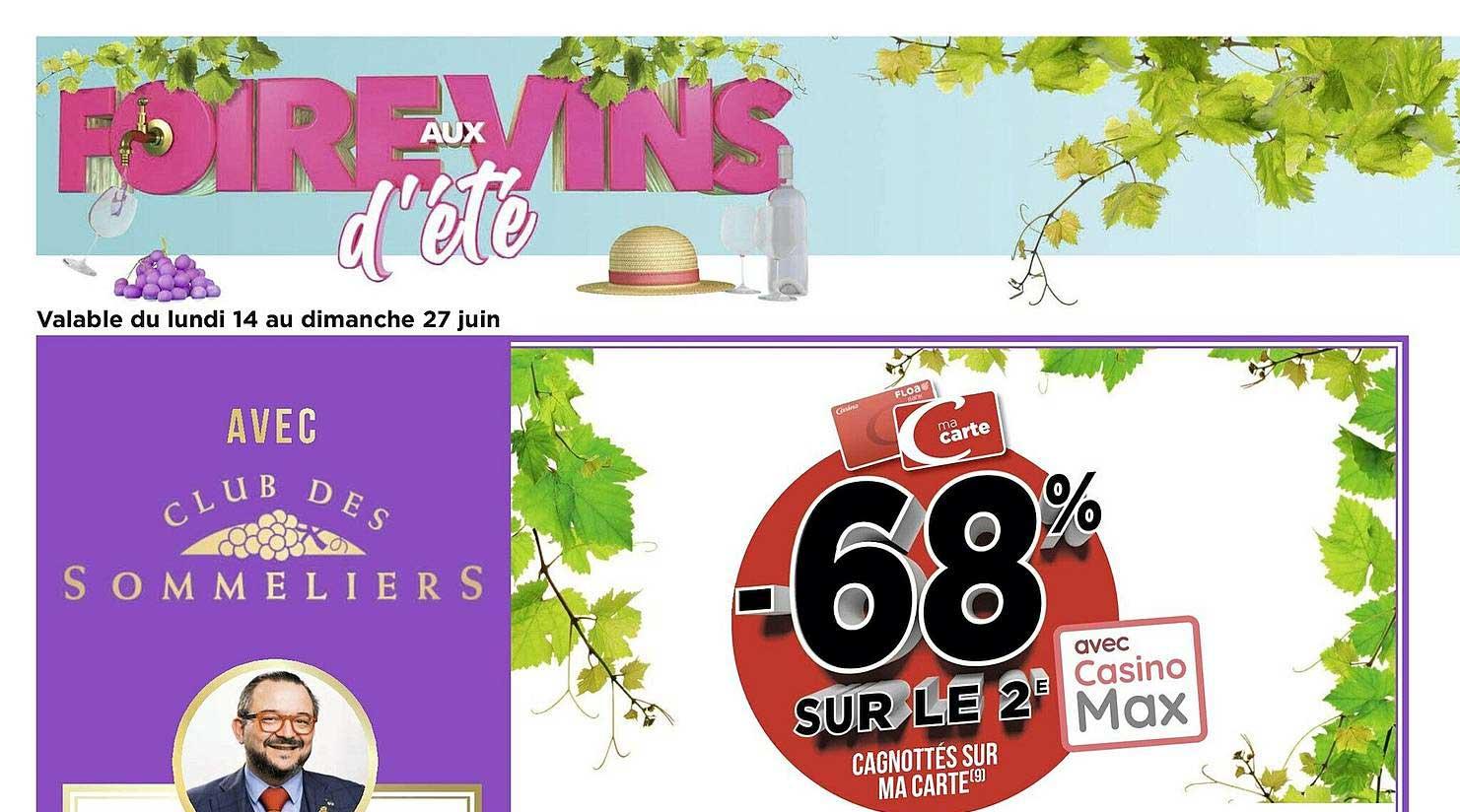 Casino Supermarchés Foire Aux Vins D'été