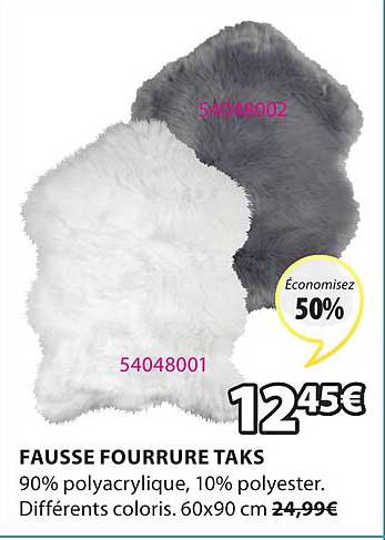 JYSK Fausse Fourrure Taks