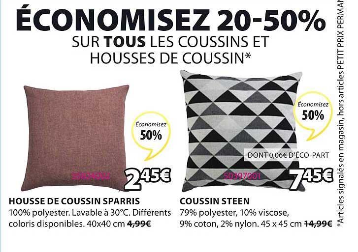 JYSK Housse De Coussin Sparris Coussin Steen