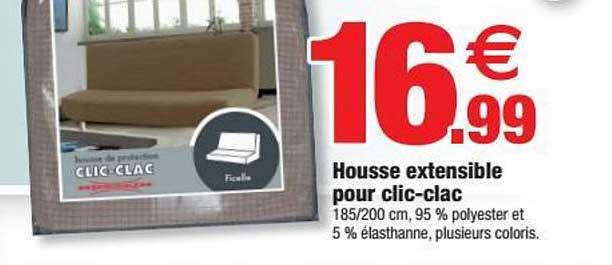 Bazarland Housse Extensible Pour Clic Clac