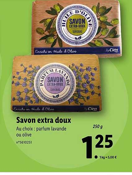 Offre Savon Extra Doux Cien Chez Lidl