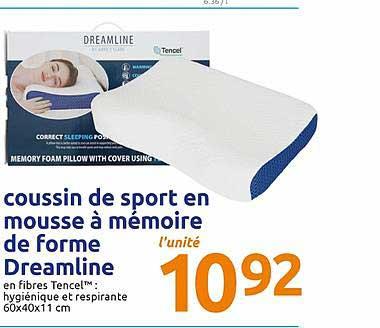 Action Coussin De Sport En Mousse à Mémoire De Forme Dreamline