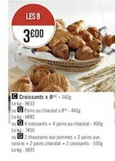Géant Casino Croissants X8