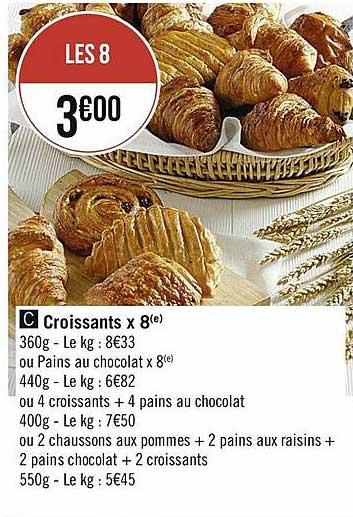 Casino Supermarchés Croussants X 8