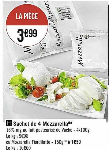 Casino Supermarchés Sachet De 4 Mozzarella