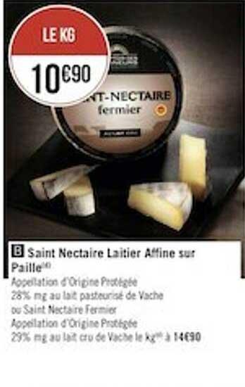 Géant Casino Saint Nectaire Laitier Affine Sur Paille