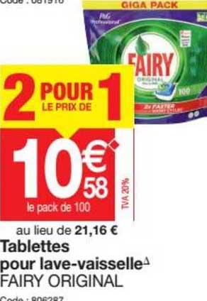 Promocash Tablette Pour Lave Vaisselle Fairy Original