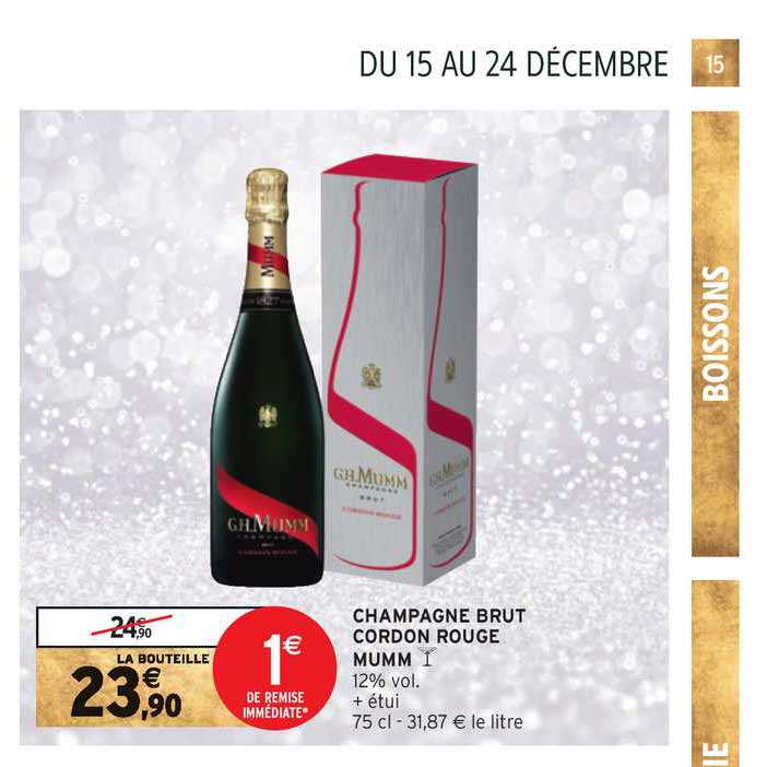 Intermarché Express Champagne Brut Cordon Rouge Mumm